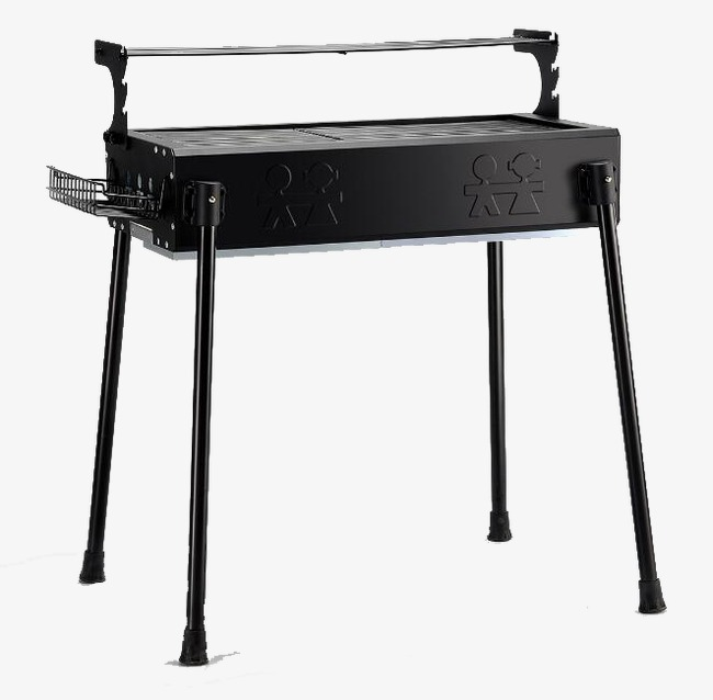 不銹鋼燒烤爐子家用黑色png素材-90設計