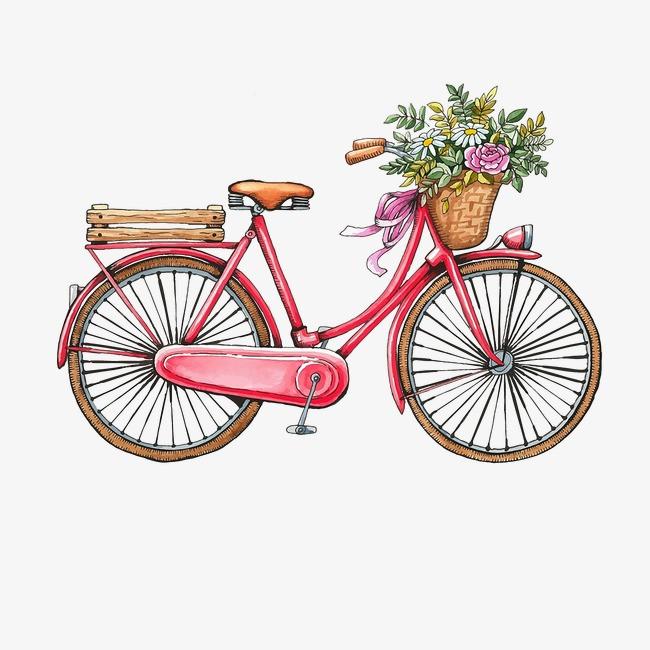 浪漫手绘自行车