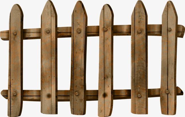 手绘木头栅栏