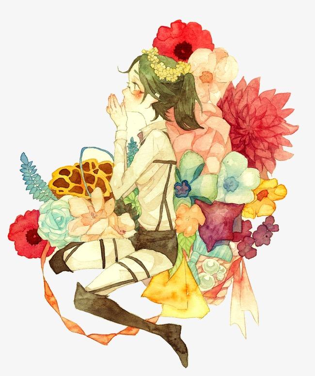 唯美手绘花仙子