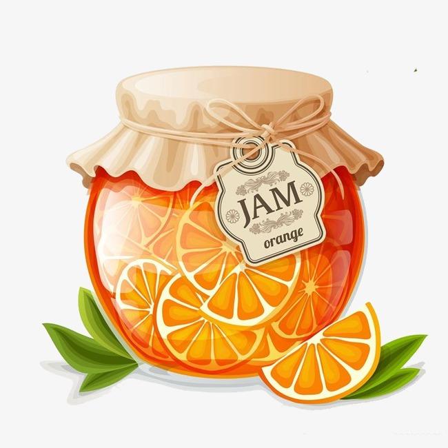 手绘橘子酱