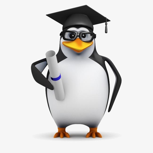 三维立体博士企鹅图片