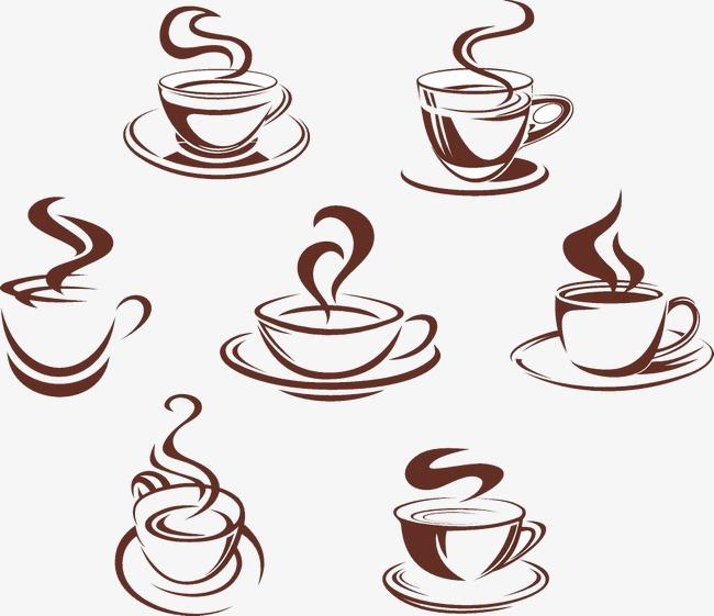 手绘卡通咖啡店标志