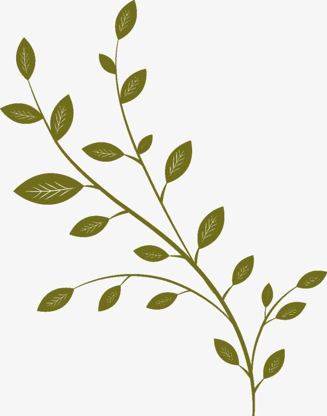 图片 > 【png】 嫩绿色卡通枝叶  分类:手绘动漫 类目:其他 格式:png