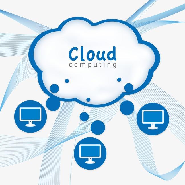 矢量云计算图片