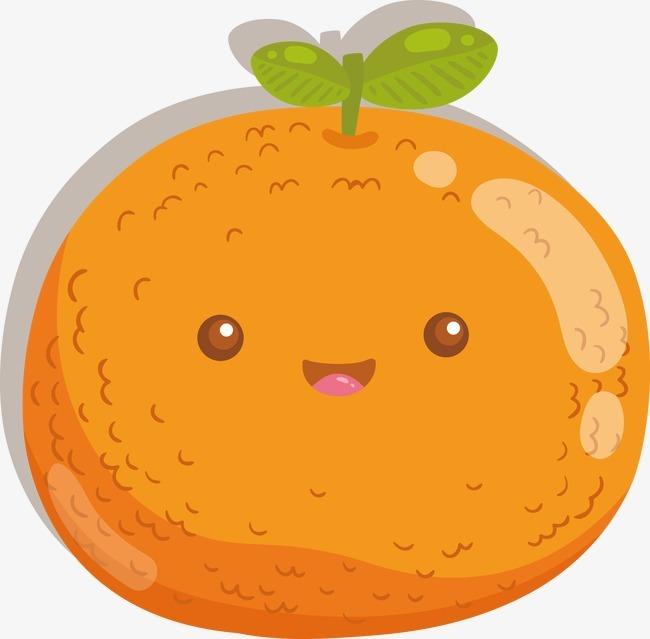 卡通橘子矢量图