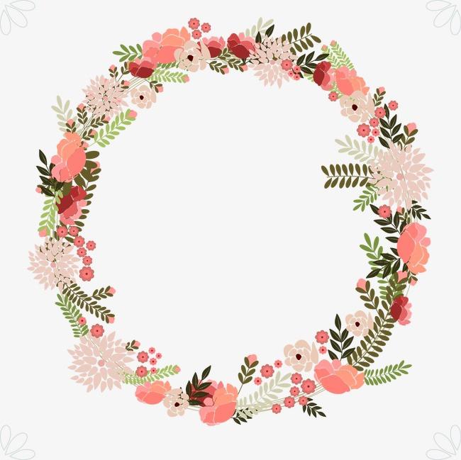花环  手绘   婚礼花环  手绘   婚礼免扣素材 手机端:婚礼花环