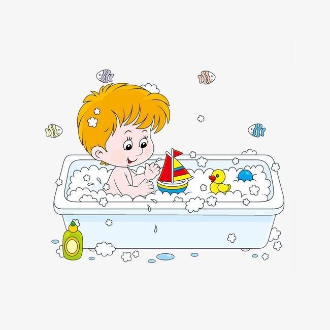 浴缸卡通图片大全