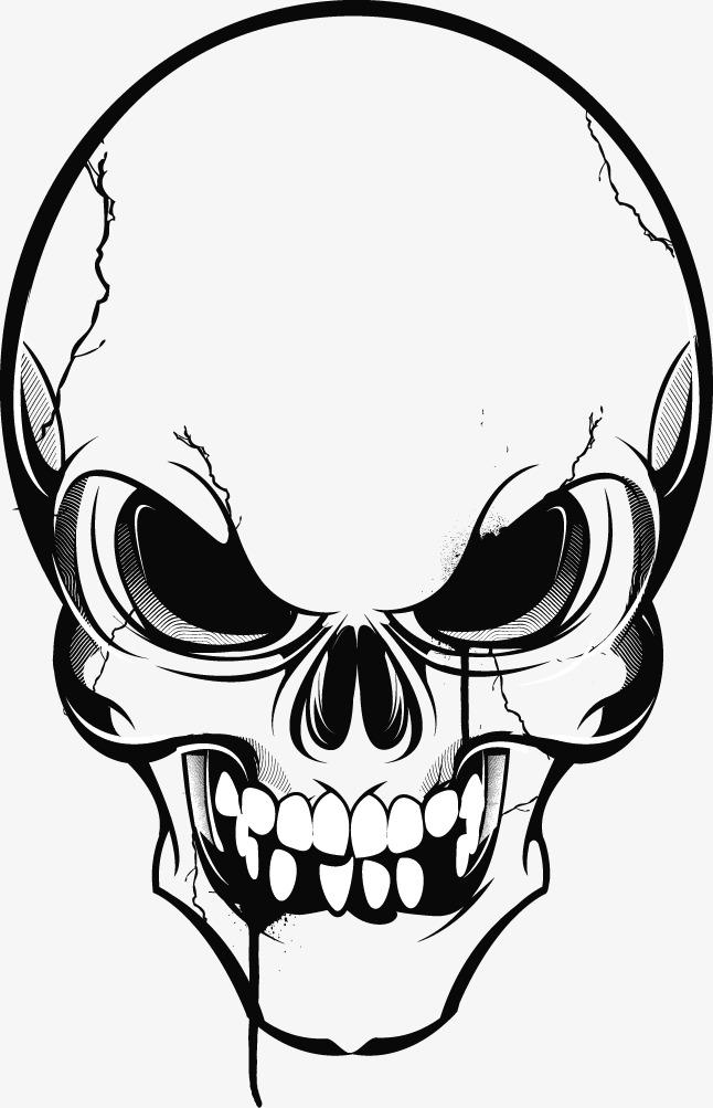 抽象骷髅_骷髅png素材-90设计