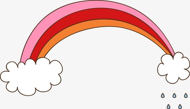 卡通手绘彩虹贴图png素材-90设计