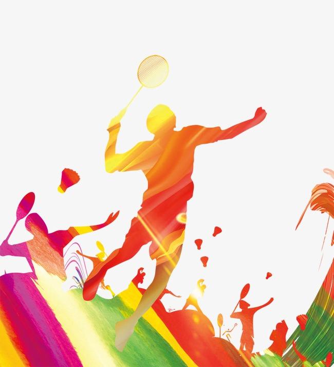 羽毛球运动员剪影素材图片免费下载 高清图片pngpsd 千库网 图片编号4494818