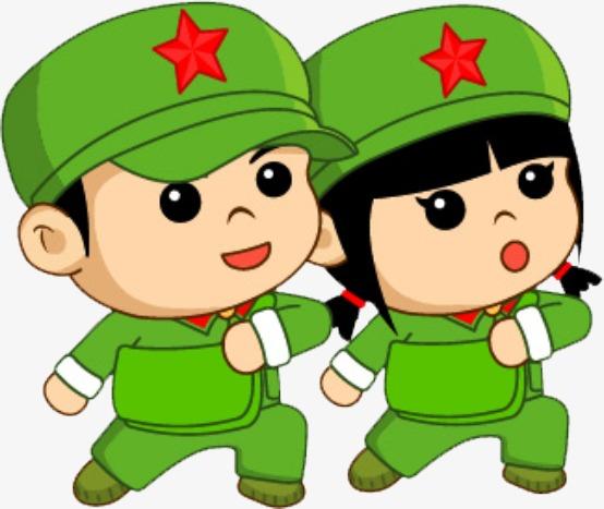 小红军卡通