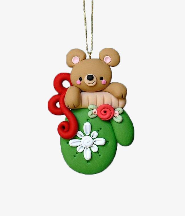 小熊橡皮泥项链