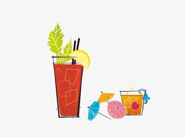 卡通手绘饮料