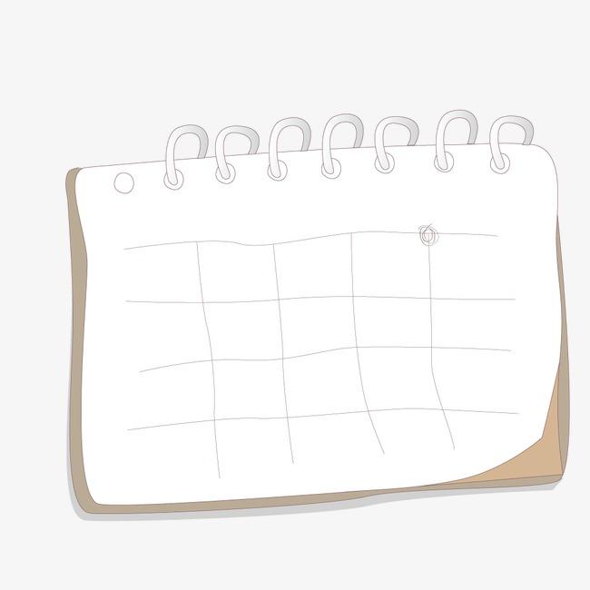 手绘日历边框