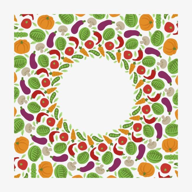 矢量手绘水果边框