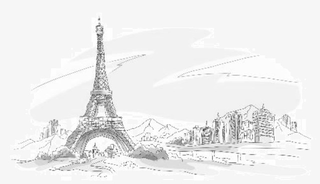 90设计提供高清png手绘动漫素材免费下载,本次埃菲尔铁塔作品为设计师图片