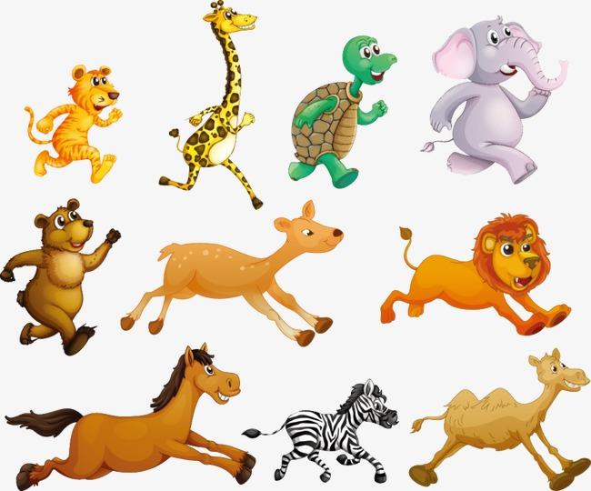 图片 > 【png】 奔跑的动物  分类:手绘动漫 类目:其他 格式:png 体积