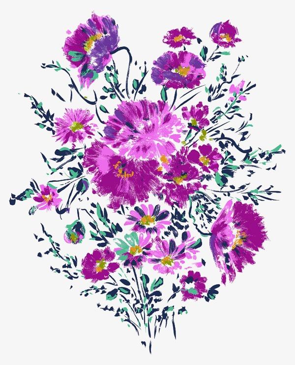 水彩手绘鲜花