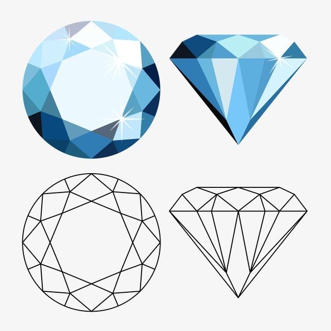矢量钻石素材png素材-90设计