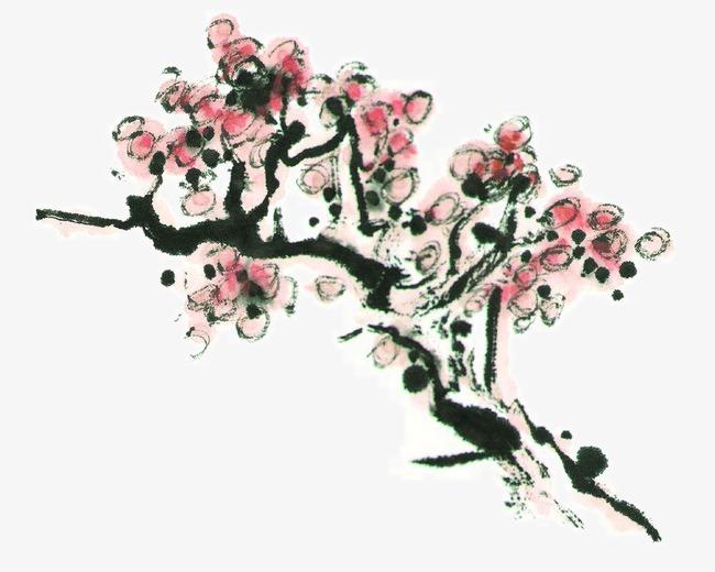图片 装饰元素 > 【png】 手绘梅花