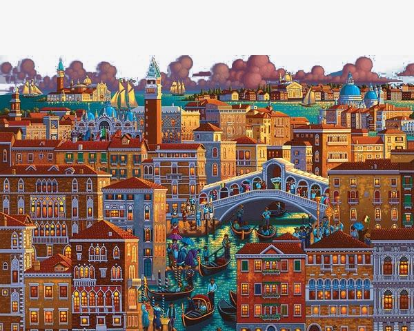 大都市手绘装饰画【高清装饰元素png素材】-90设计