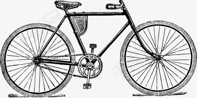 铅笔画自行车素材图片免费下载 高清装饰图案png 千库网 图片编号