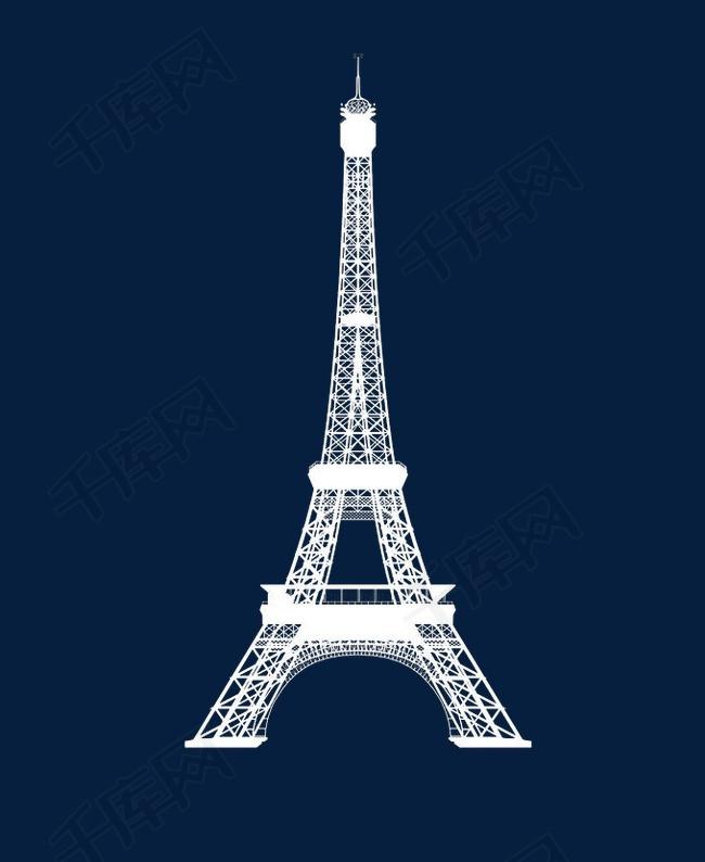 埃菲尔铁塔手绘素材图片免费下载 高清卡通手绘png 千库网 图片编号4649390