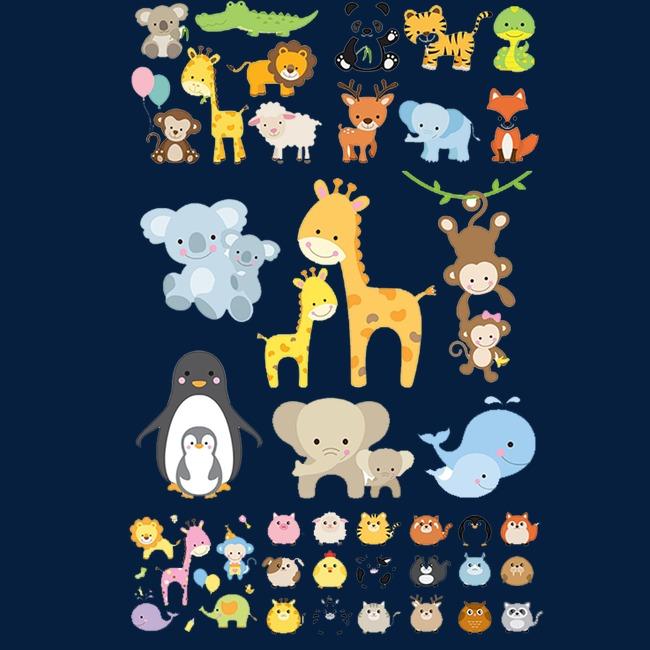 图片 > 【png】 可爱动物集合  分类:装饰元素 类目:其他 格式:png