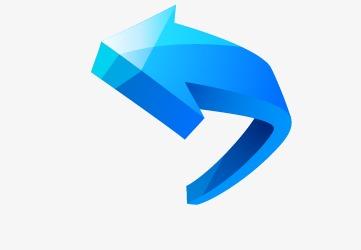 位图 90设计提供高清png手绘动漫素材免费下载,本次蓝色箭头作品为