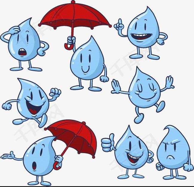 卡通手绘水滴素材图片免费下载 高清卡通手绘png 千库网 图片编号4678033