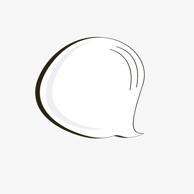 水滴状文字气泡png素材-90设计