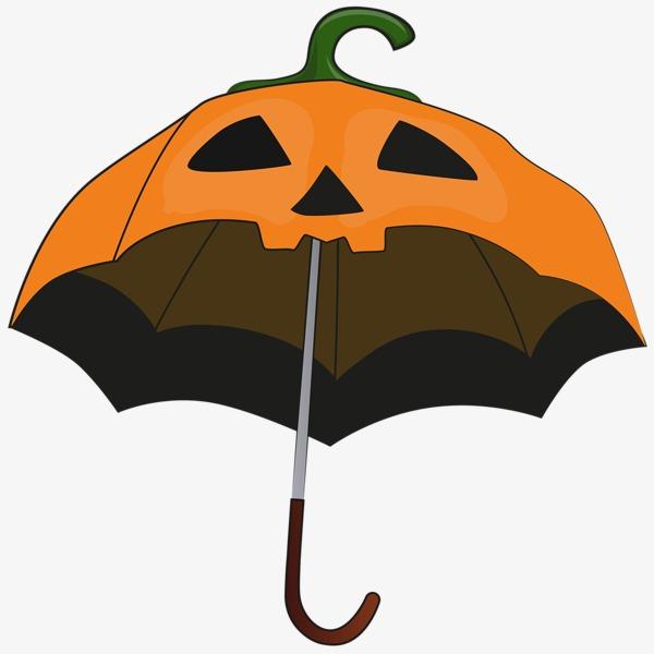 手绘搞怪南瓜伞