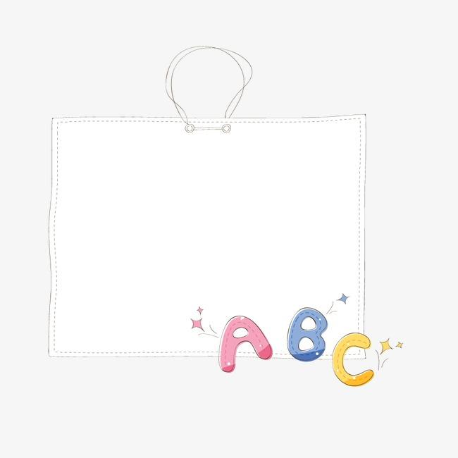 abc卡通文字边框【高清边框纹理png素材】-90设计