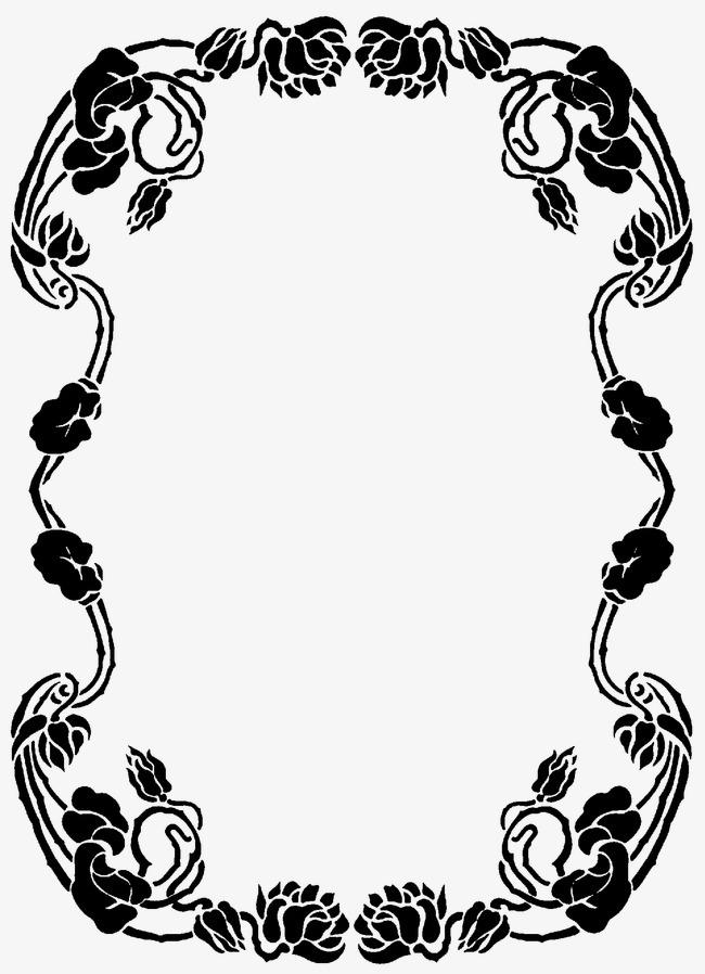 手绘藤蔓边框