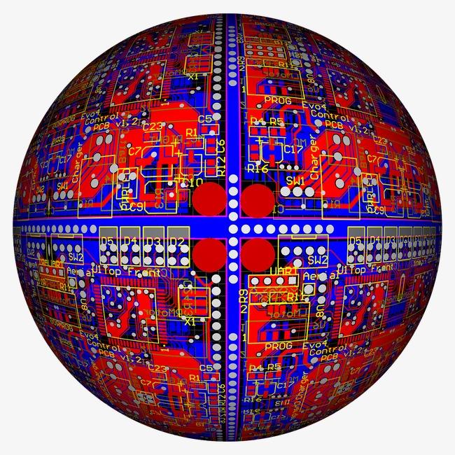 创意 圆形 电路板             此素材是90设计网官方设计出品,均做