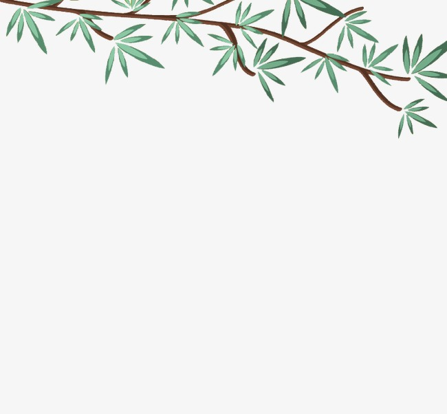 矢量 绿色的树枝png素材-90设计
