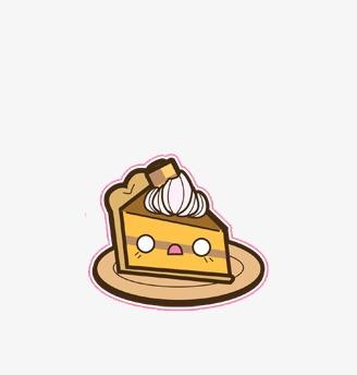 卡通手绘表情蛋糕
