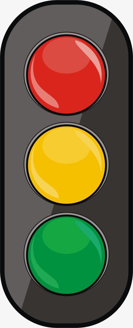 红绿灯水彩
