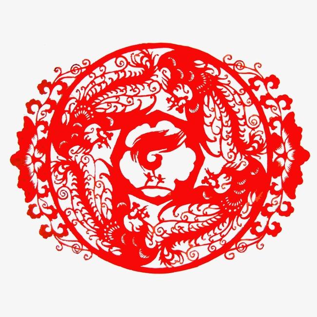 尺寸:750*750 90设计提供高清png装饰元素素材免费下载,本次红色剪纸