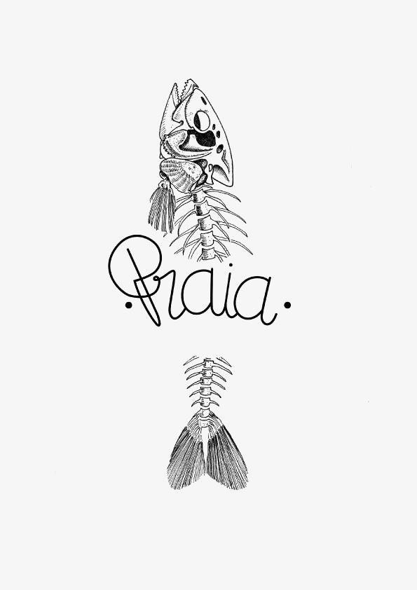 鱼 铅笔画 黑色 手绘 鱼骨头             此素材是90设计网官方设计