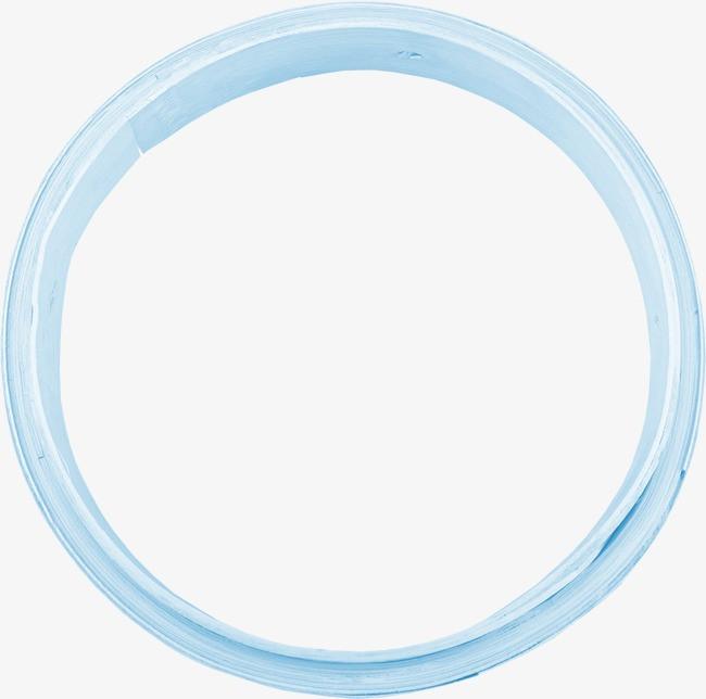 蓝色漂亮圆环