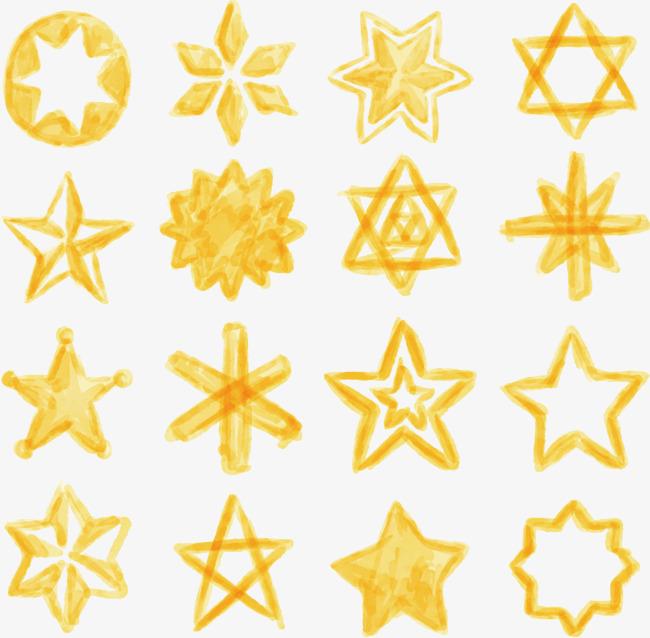矢量手绘星星