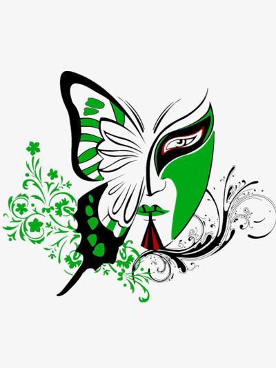 v脸谱感脸谱和素材韩束网页设计蝴蝶图片