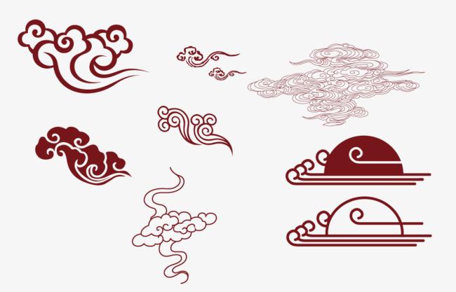 本次矢量手绘祥云图案作品为设计师〆好名字都让猪起了丶创作,格式为p图片