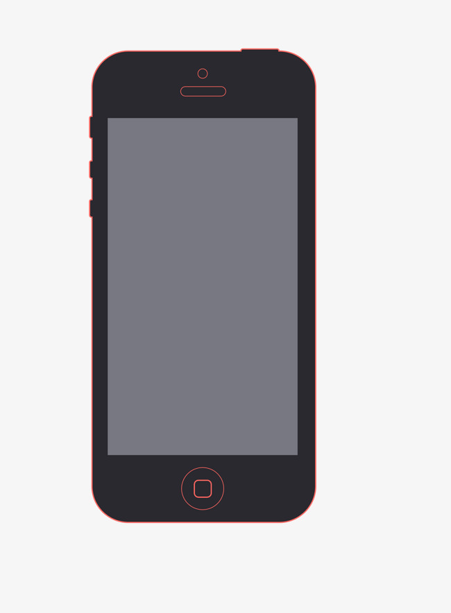 苹果手机原型png素材-90设计