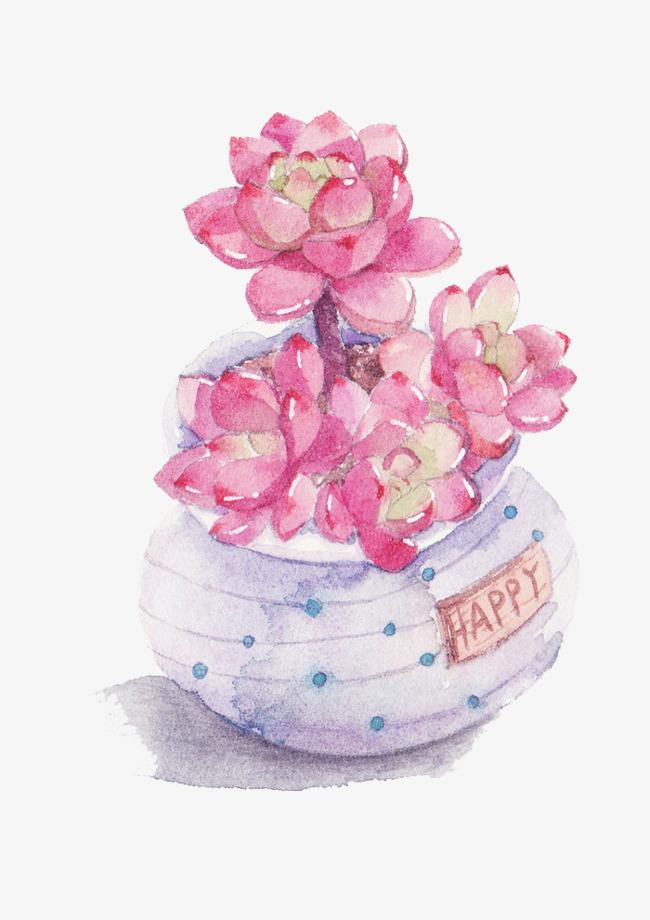 卡通多肉植物素材图片免费下载_母亲漫画手绘高清紫色a卡通之坏图片