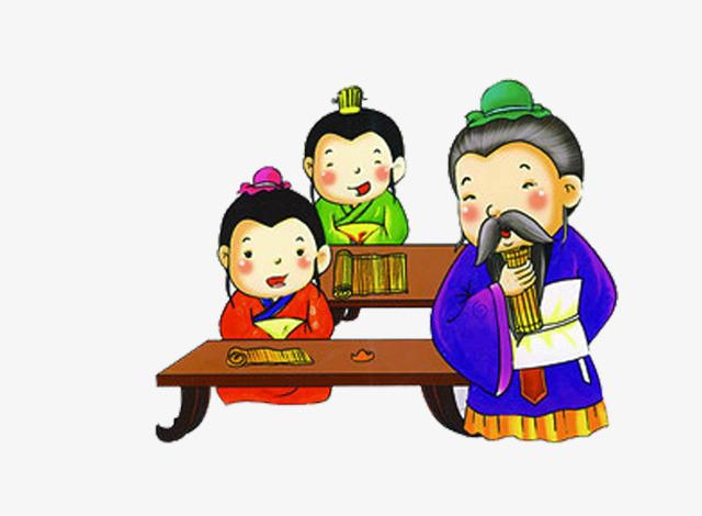 卡通古代男子【高清装饰元素png素材】-90设计图片