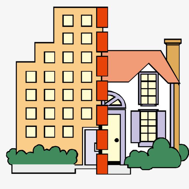 建筑 房屋 手绘 立体  模型             此素材是90设计网官方设计