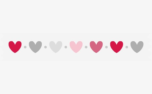 可爱桃心边框装饰素材图片免费下载 高清边框纹理png 千库网 图片编图片